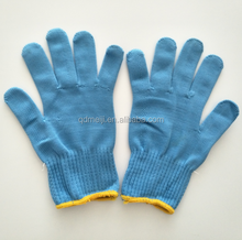 Cheap Blue Knitted Nylon Best Working Safety Gloves Used in Winter