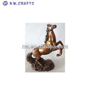 Bronze clay horse figurines