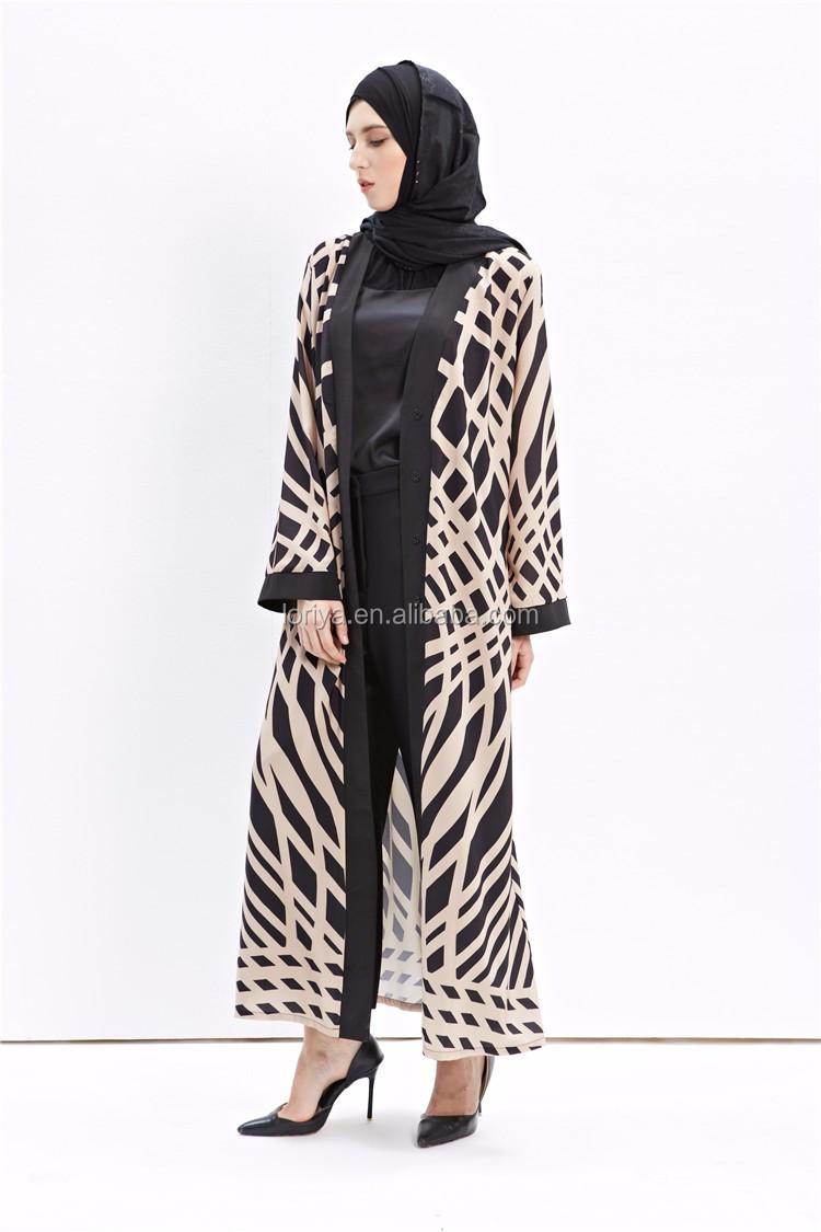 Top Selling Strap Pattern Abaya Dubai Maxi Open Abaya,Women Modern ...