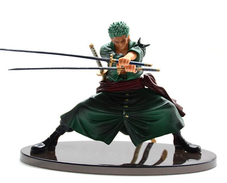 Anime One Piece 13cm Cool Decisive Battle Version One Piece Roronoa Zoro PVC Figure Toy PVC