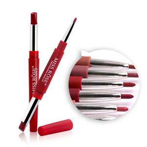 Hot Sale Miss Rose Makeup Double End Waterproof Natural Lip Liner Matte Lipstick