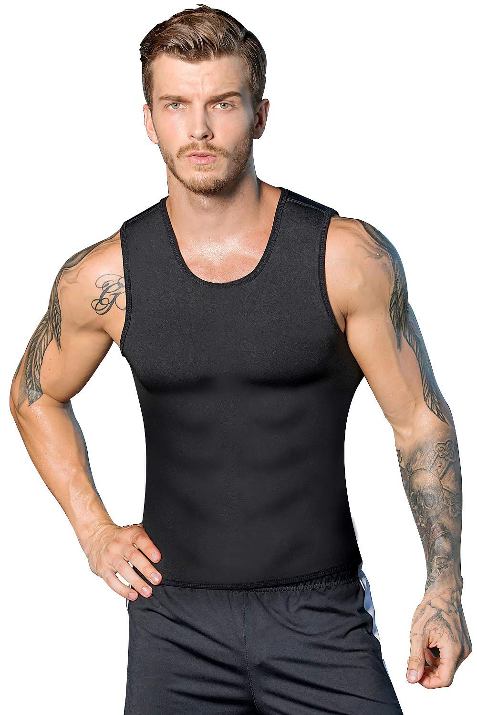 1a75a7ba1bc Get Quotations · DoLoveY Mens Waist Trainer Vest for WeightLoss Hot Neoprene  Sweat Body Shaper Corset Sauna Tank Top