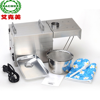 Multi-function small scale olive peanut sunflower seed oil press