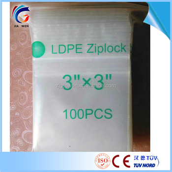 Polyethylene Custom Printed Ziplock Plastic Bags Mini Zip Lock With Great Price
