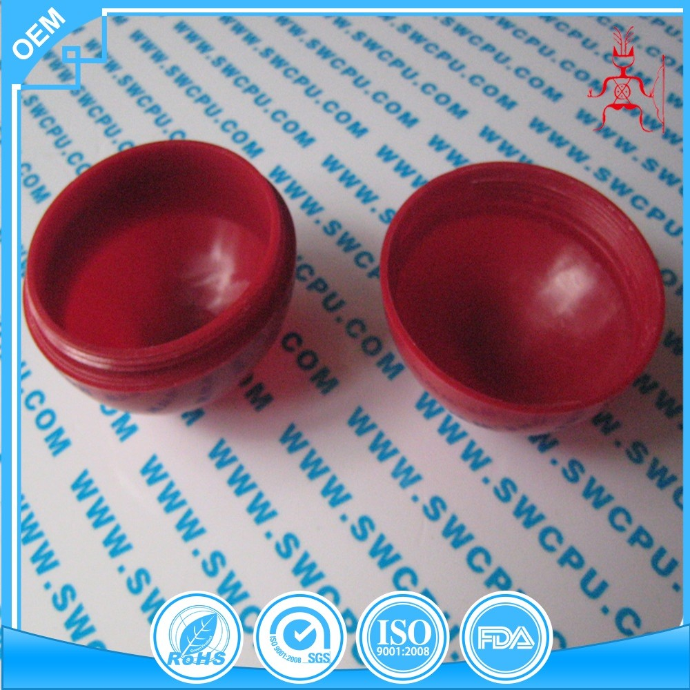 Customized solid colored large hard plastic ball