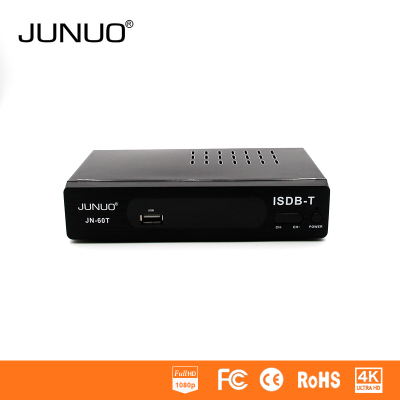 JUNUO Isdb-t Set Top Box Oem isdb t digital tv receiver converter box South America