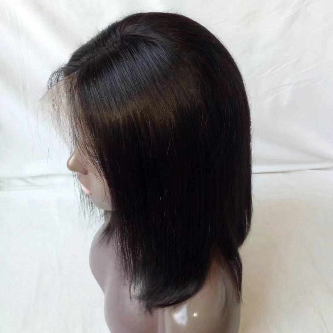 Tellement agréable court perruques de cheveux humains, Vierge brésilienne cheveux bob perruque pour les femmes noires