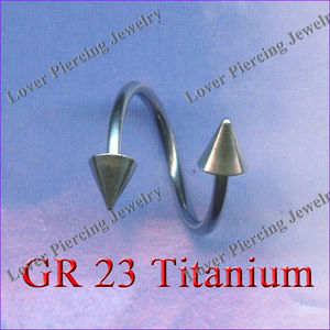 Wholesale Gr23 Titanium Ear Tragus Barbell Piercing Jewelry Ring [ST-165]