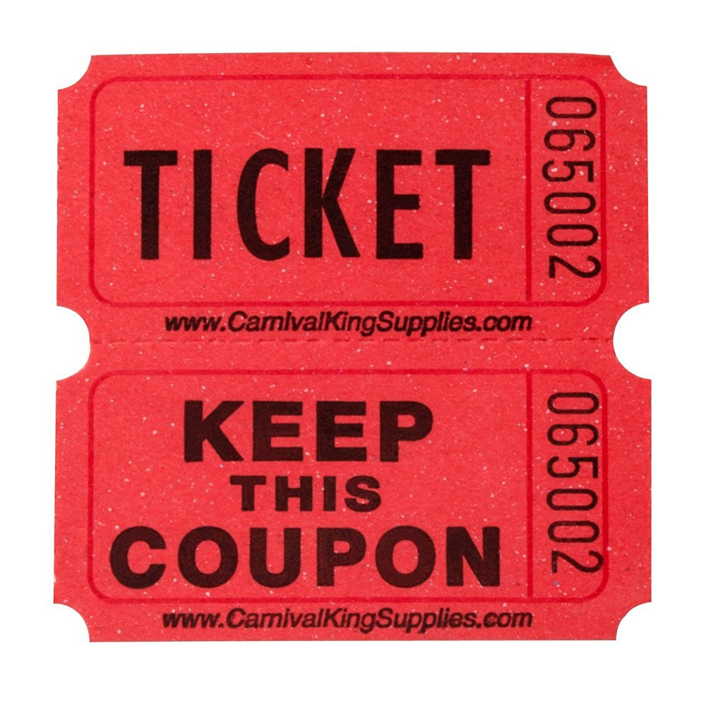 get quotations red double raffle ticket roll