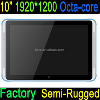 Cheapest Factory IP54 quad-core dual-band wifi 4g lte 1920*1200 pixels Octa-core semi-rugged tablet pc 10inch