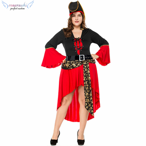 41a9237b9592 Halloween skeleton Pirate suit dress Carnival Party ball stage costume