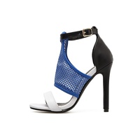 New fashion mesh openwork high heels shoes casual
