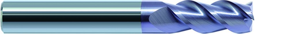 "ZCC-CT GM-3E-19/64"" Flattened End Mill, 30, 13/16"" Cut Length, 19/64"" Cutting Diameter, Solid Carbide, TiAlN Coating, Straight Shank, 5/16"" Shank Diameter, 2-1/2"" Length, 3-Flute"