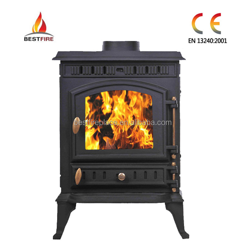 7kw brass hot selling matt black multi fuel heater