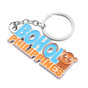 China manufacturer custom die cast metal engraved character keychain