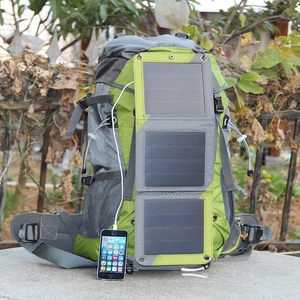 Outdoor travel 600D solar hydration backpack, climbing hiking backpack ,Durable hiking backpack