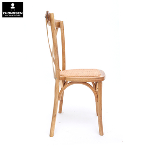 Hot sale solid wood Antique classic X cross back chair /wooden oak crossback chair