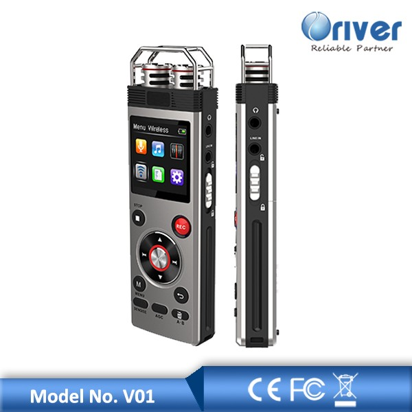Digital voice recorder with external microphone