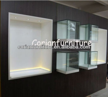 Corian Built Display Cabinets