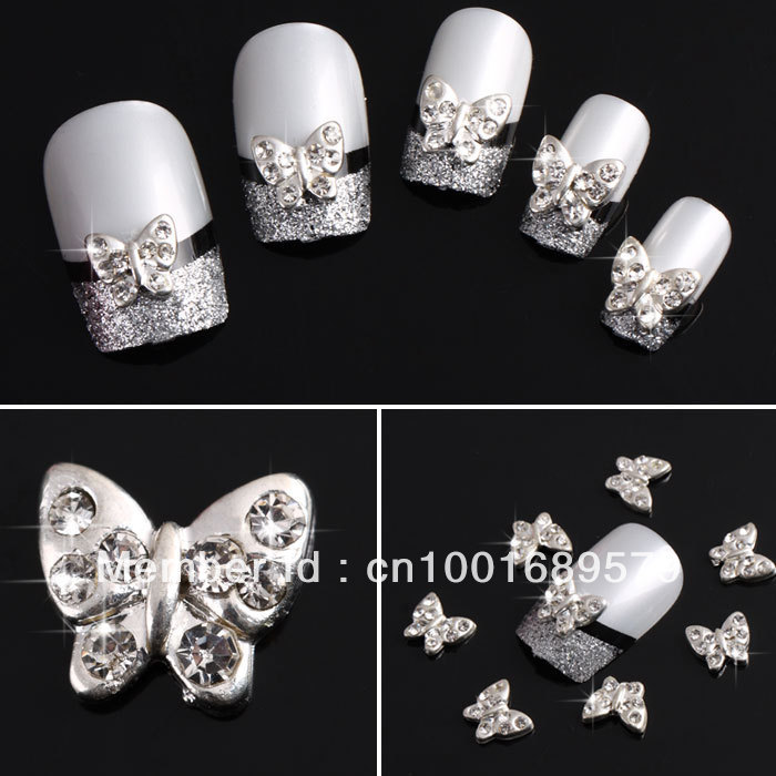 Newest Free Shipping Wholesale/ Nails Supply, 50 Pcs 3D