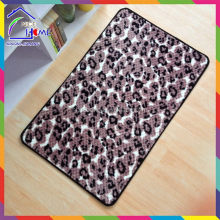 Leopard fashionable top sell printed christmas floor mat