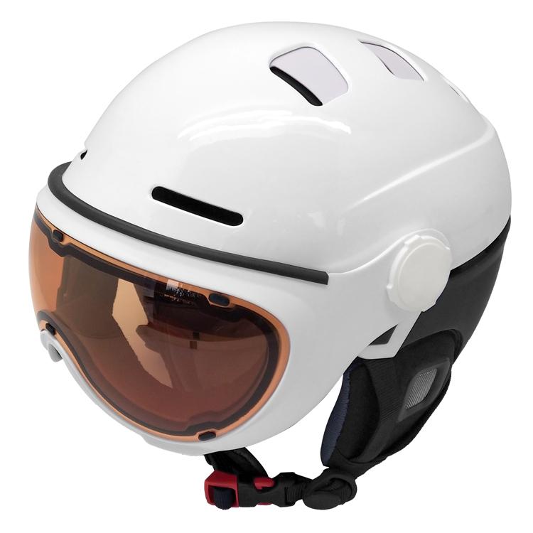 AU-S07 Ice Skating Snow Helmets Ski Helmet With Visor 13