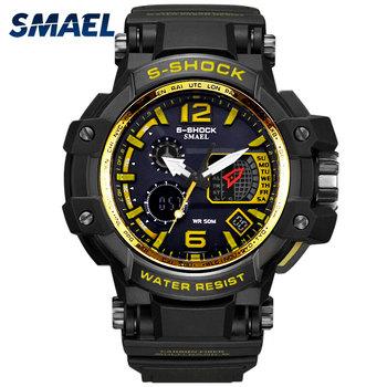 grand choix de de2b8 ea28c Smael 1509 Mode Led Numérique Montre De Sport Militaire 50 Atm Étanche S  Choc Mâle Horloge Hommes Montre-bracelet Relogio Masculino - Buy Smael  Hommes ...
