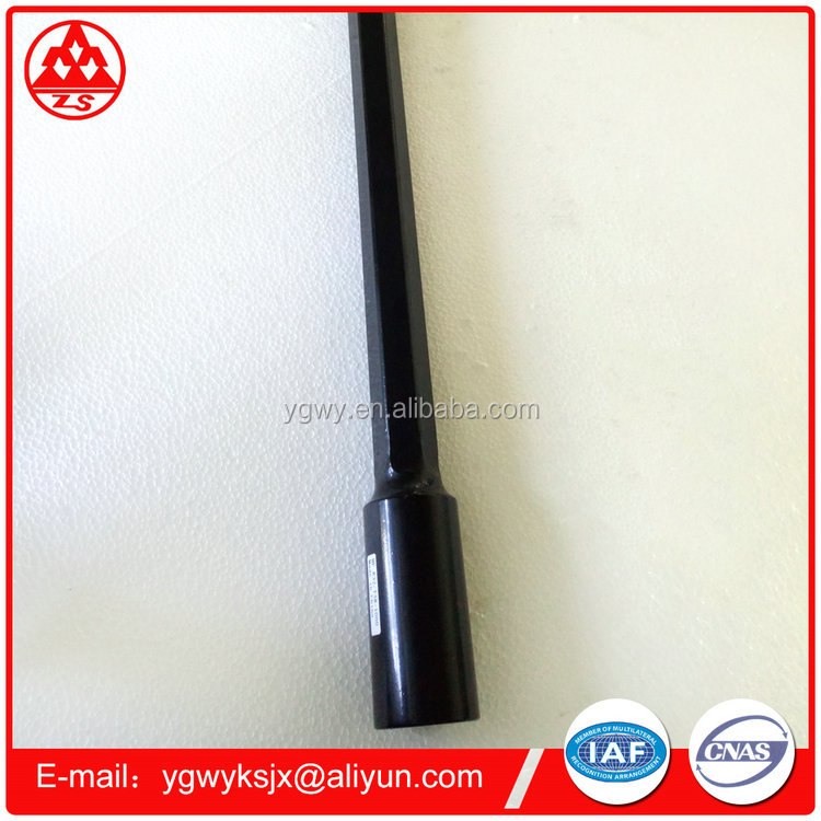 R32-T38 H35 MF black steel hollow threaded rod for minging equipment use