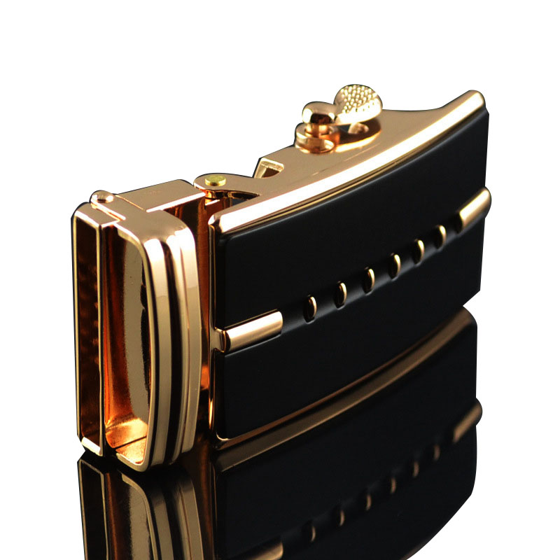 Factory wholesale new ratchet belt alloy customized Men's automatic buckles