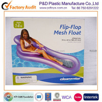 EN71 6P PVC water beach inflatable pool float bed
