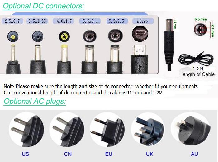 Adaptor Daya MagSafe 6V 1A Universal Power Supply dengan US Plug