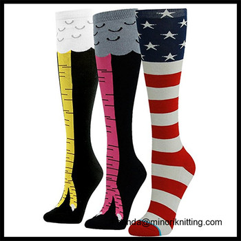 8ad68a31a74 Amazon Hot Selling Chicken Leg 3D Animal Printing custom made knee-high  socks