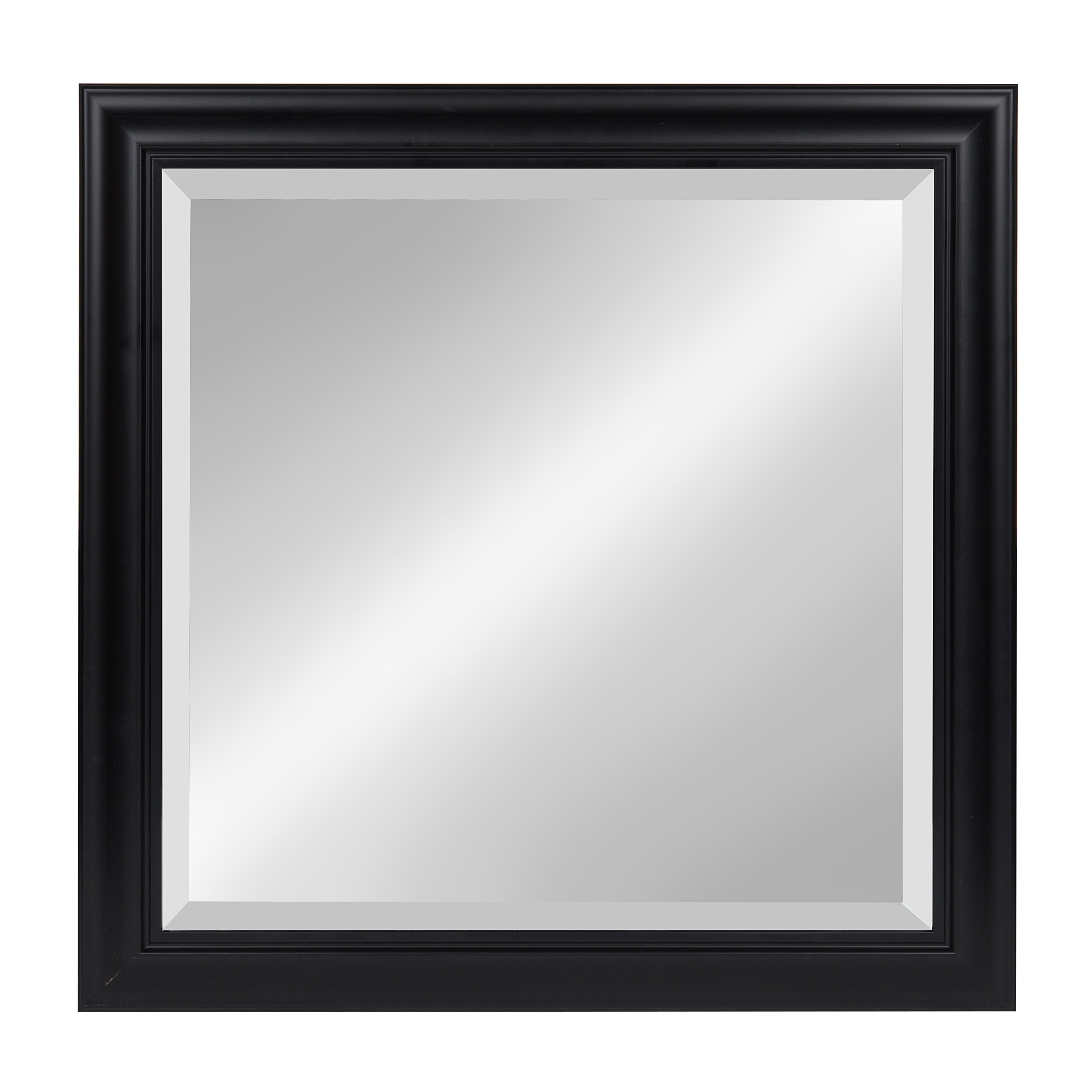 Kate And Laurel Dalat Square Framed Beveled Wall Mirror 24x24 Black