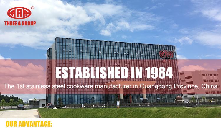 บ้าน chitchen ชุดเครื่องครัวสแตนเลส 304 เครื่องครัวกระทะ frypan และ steamer หม้อพร้อมฝาปิด