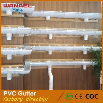 Guangzhou Suppliers Rain Water Gutter Sound Proof Pvc