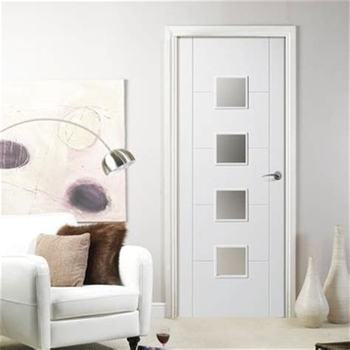 Elegant Wooden Door With Frosted Gl