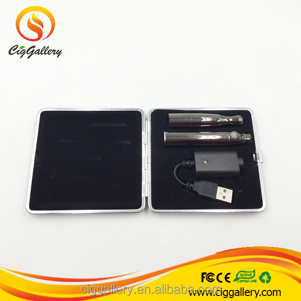 Ciggallery upgrade 510 deep tank capacity skillet dual quartz wax vaporizer 710 pen with metal case package
