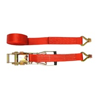 wholesale stock 25mm 3m 8m 6m 9m 10m ratchet webbing tie down strap with double J hooks and colorful straps