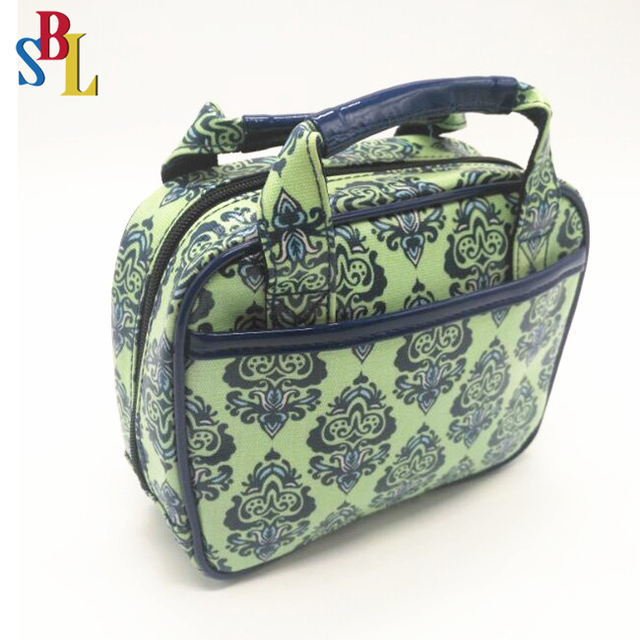 Travel PU cosmetic bag Makeup Organizer toiletry wash handle bag