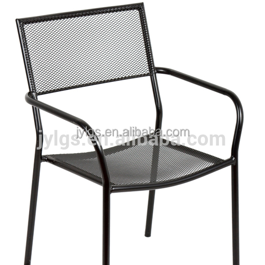 Outdoor Garden Wrought Iron Stacking Chair aldi Metal Mesh Chair