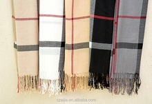 New fashion acrylic checked warm plaid scarf / shawl