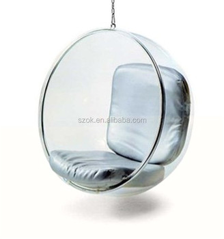 china supplier unique design acrylic hanging egg chair for retail