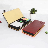 Leather Look Design Holder, Great Teachers Gift sticky note pads/memo pad/ sticky note with calendar