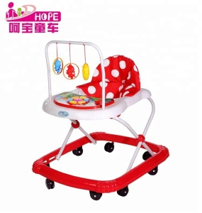 Factory wholesale baby walker with 8 wheels and music
