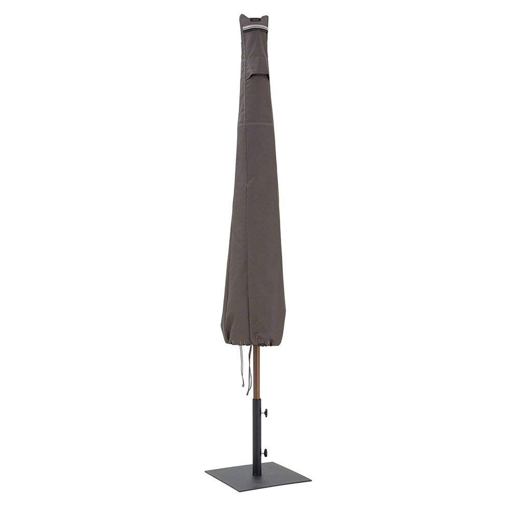 Patio Umbrella Cover for 7-11 Ft Outdoor Umbrella, Weather Resistant,Tear Proof Suit For Any Weather Condition Home Yard Workshop Market Four Seasonal Pratical Useful HZC07 (Grey)