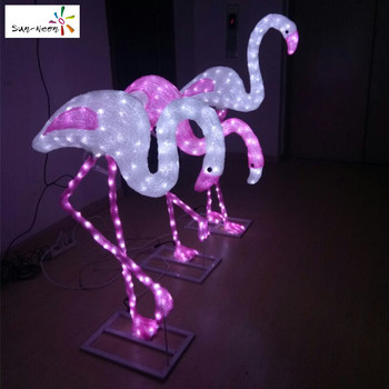 Holiday Time Wedding Decorations Plastic Pink Flamingo Flamingos Statue
