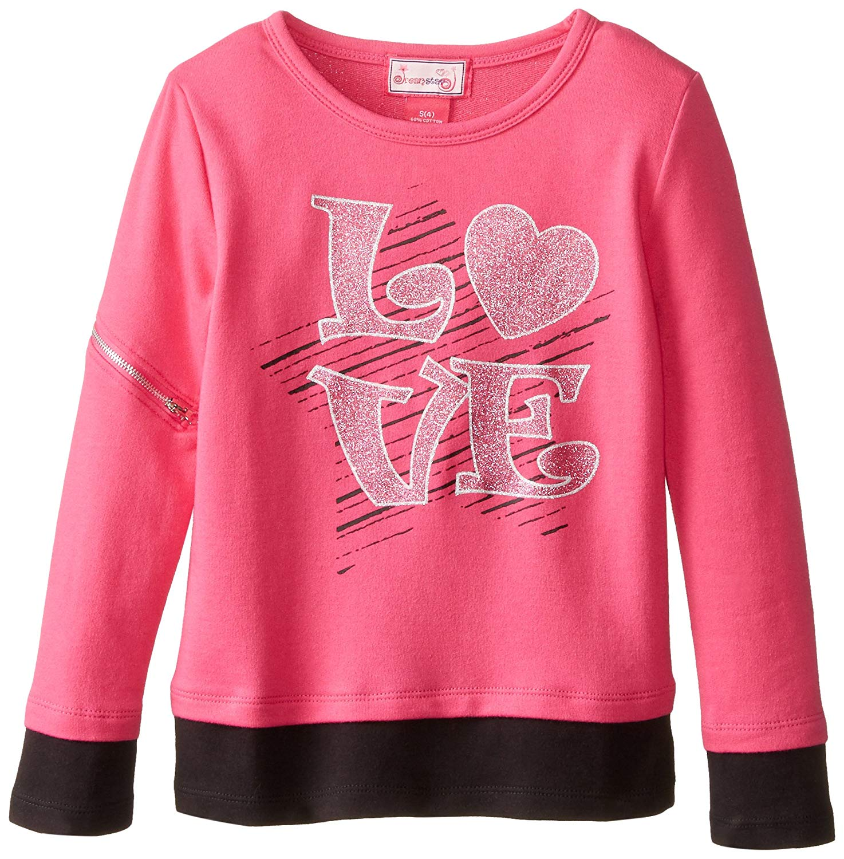 Dream Star Big Girls' Love Sequin Sweatshirt