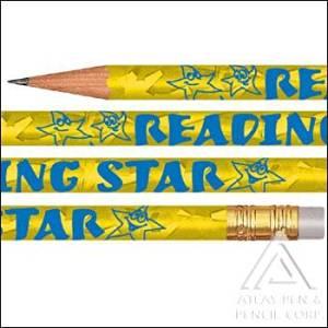 Foil Reading Star Pencils- 144 pencils per box