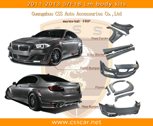 F10 M5 model luxury car change to lm style body kit frp auto body part kit