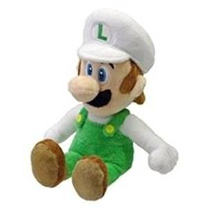 "(USA Warehouse) Sanei Officially Licensed Super Mario Plush 9"" Fire Luigi Japanese Import **ITEM#NO: 43E8E-UFE6 C2A32675"